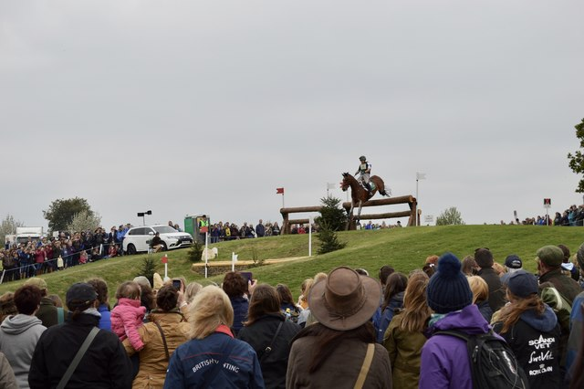 Badminton Horse Trials 2017: cross-country fence 5a - staircase