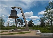 TQ3784 : Bell, Olympic Park, Stratford, East London by Christine Matthews
