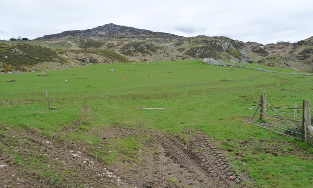 Rock-strewn sheep pasture, south-east of Garn