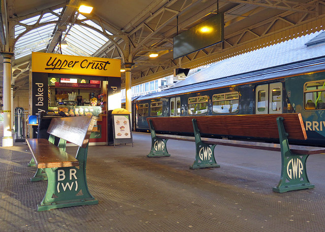 Cardiff Central: refreshments and platform seats
