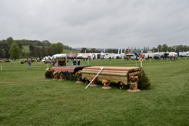 Cross-country fences at Chatsworth Horse Trials
