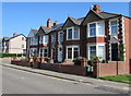 ST3087 : Short row of houses, Stow Hill, Newport by Jaggery