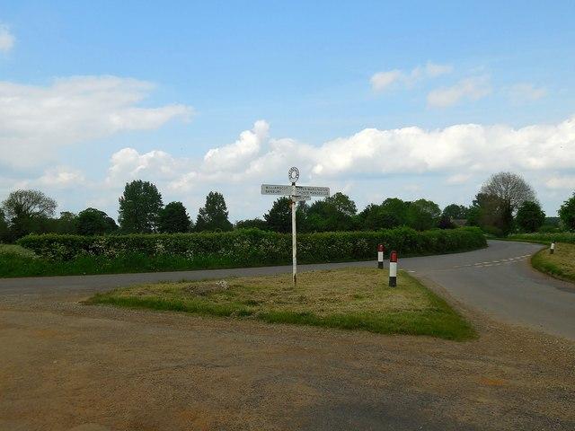 Upper Wardington Road Junction