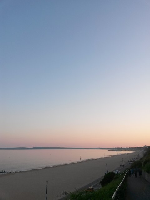 Bournemouth: a cloudless evening sky