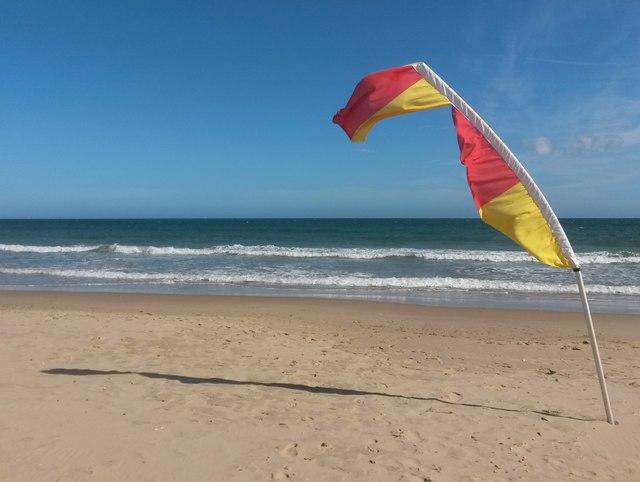 Westbourne: a windswept lifeguard flag