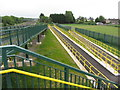 ST4387 : Approach ramps to a new footbridge in Undy by Gareth James