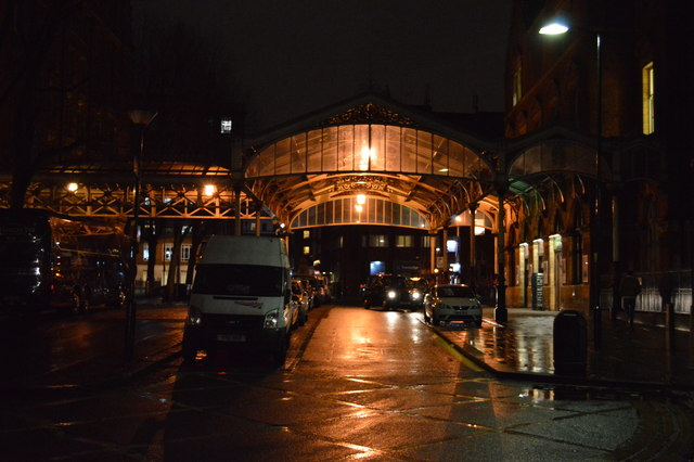 Canopy in front of Marylebone Station