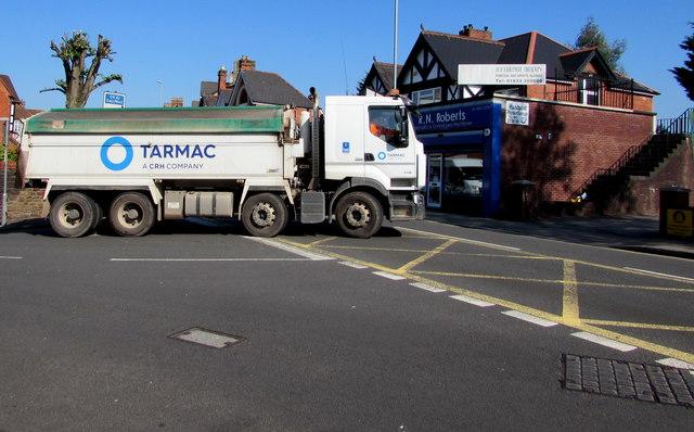 Tarmac lorry in the Handpost area of Newport