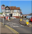 ST3087 : Handpost bus lane, Newport by Jaggery