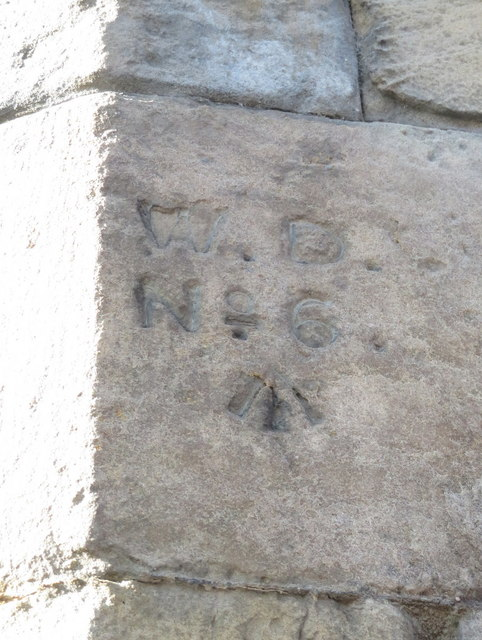 Chester Castle Barracks War Department boundary stone #6