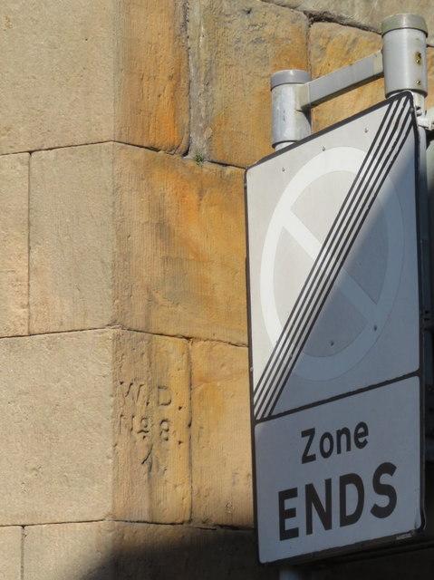 Chester Castle Barracks War Department boundary stone #8