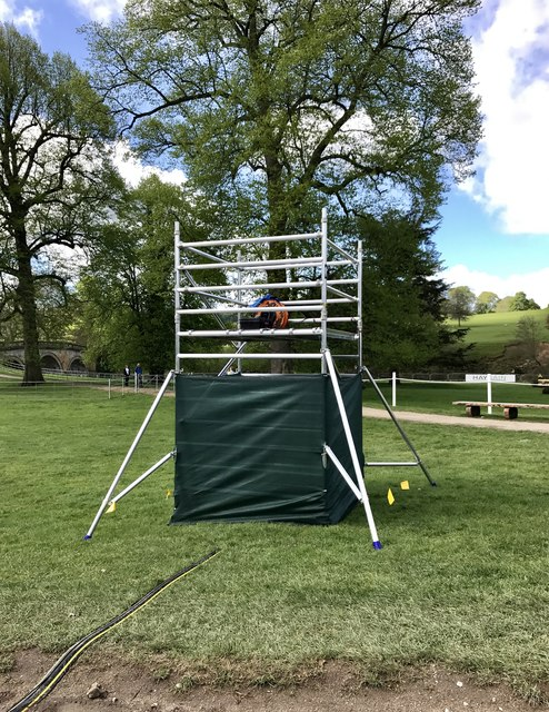 TV camera platform at Chatsworth Horse Trials