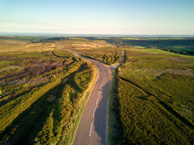 Old and New routes over the moors
