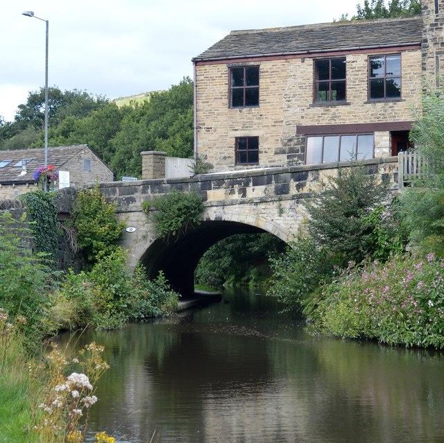 The Rochdale Canal in Mytholmroyd