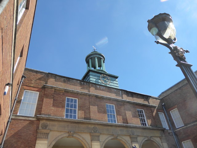 Clock and cupola on the roof of The Jockey Club
