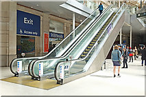 TQ3179 : Escalators, Waterloo by Anthony O'Neil