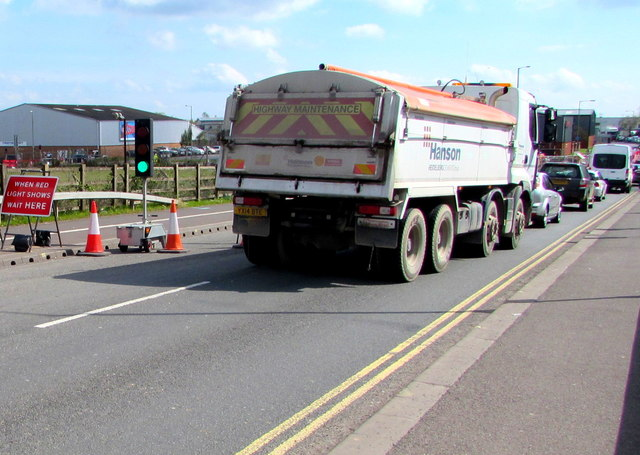Hanson highway maintenance lorry, Western Way, Bridgwater