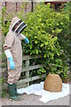 SO6625 : Collecting an unwanted bee swarm at Swallow Barn by Roger Davies