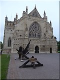"""SX9292 : The sculpture """"Hope and Renewal"""" outside Exeter Cathedral by David Smith"""