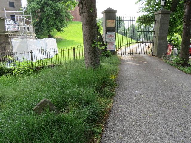 Gateway outside Chester Castle perimeter