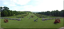 SU9185 : The parterre garden at Cliveden by Graham Hogg