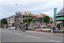 SK5838 : Roof construction on Radcliffe Road by John Sutton