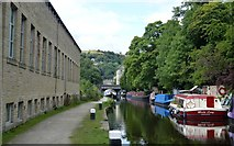 SD9926 : The Rochdale Canal in Machpelah by Bobby Clegg