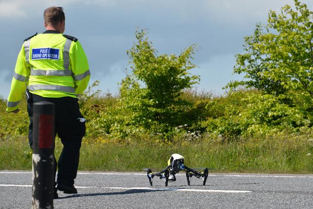 North Devon : The A361 - Drone