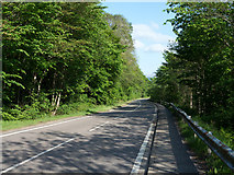 NN0826 : A85 heading east on north side of Loch Awe by Trevor Littlewood