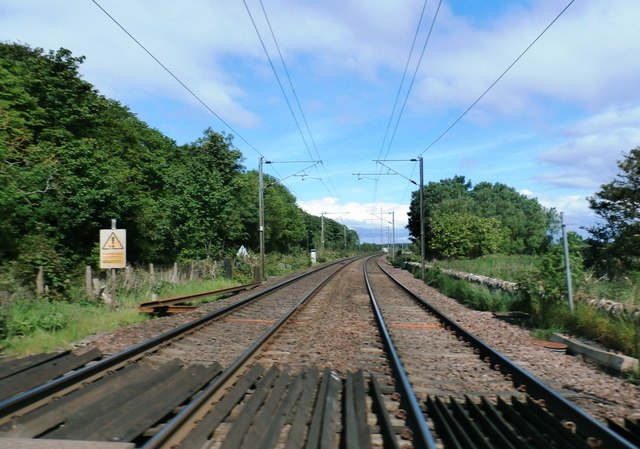 Railway at Beal Level Crossing