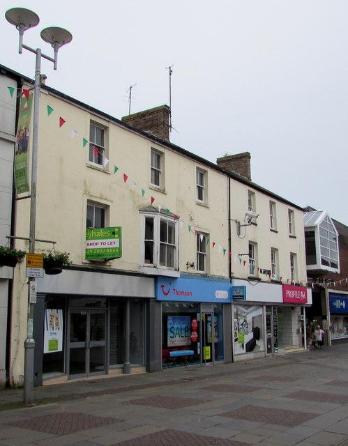 Thomson travel agents in Bridgend town centre