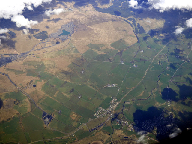 New Cumnock from the air