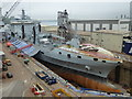 SW8132 : Dry dock - Falmouth by Chris Allen