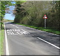 SN8241 : ARAF/SLOW on the A483 on the ascent towards Sugar Loaf by Jaggery