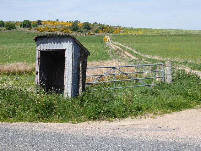 A derelict bus-stop shelter?