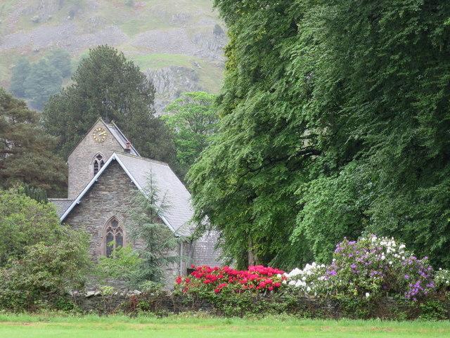 St Patrick's church amidst the richest flora