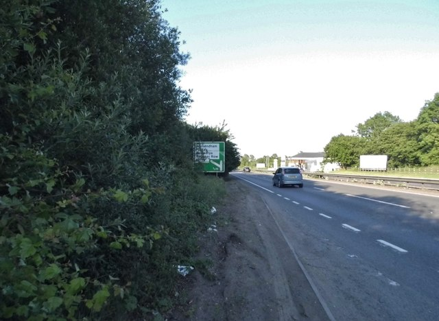 Layby on the Attleborough Bypass