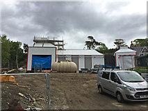 NG5536 : Isle of Raasay Distillery - under construction by John Allan