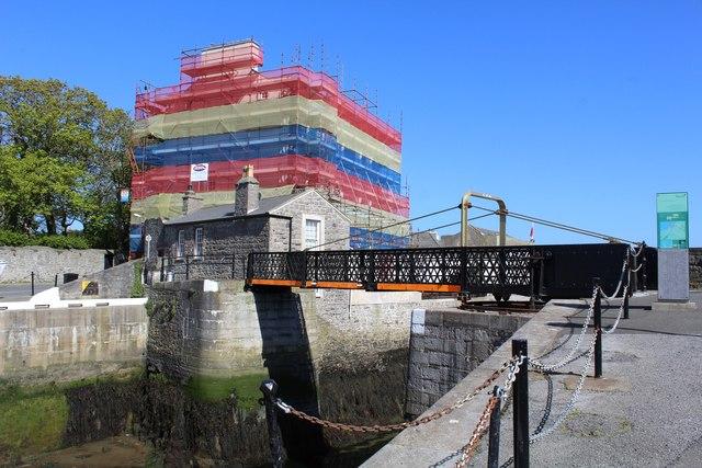 Cain bridge and Bridge House - May 2017