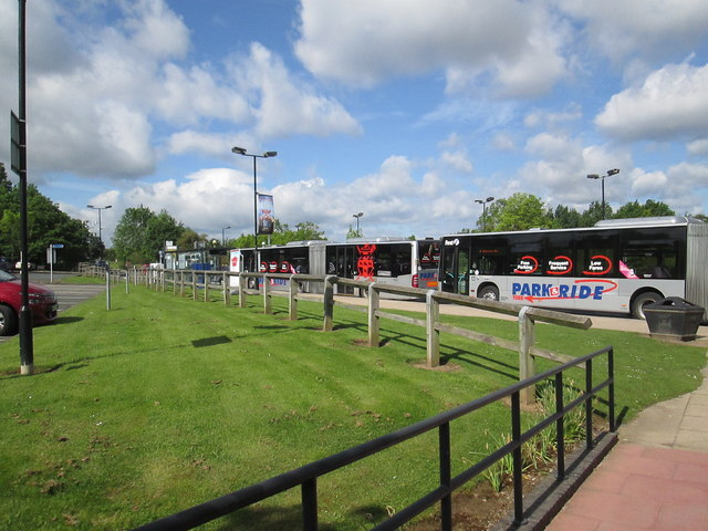 Park  and  Ride  buses  at  Grimston  Bar  car  park