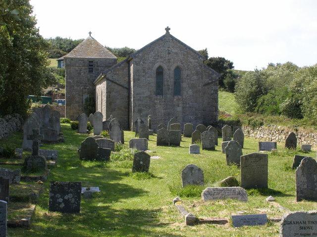 Bryher church and churchyard