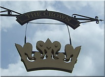 SD8789 : Sign for the Crown Hotel, Hawes by JThomas