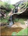 NO1905 : Waterfall at head of Glenvale, Lomond Hills by Bill Kasman