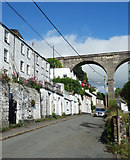 SX4368 : Terrace and Viaduct, Lower Kelly by Des Blenkinsopp
