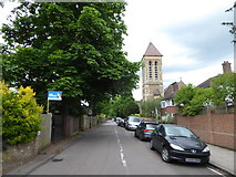 TQ1974 : Looking westwards in Christ Church Road by Basher Eyre