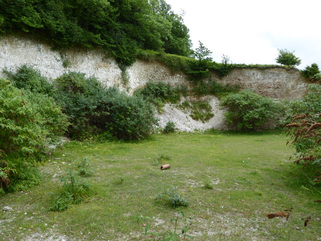 Chalk Pit on Whitcombe Hill