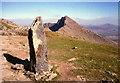 SH6154 : Marker Stone on the Watkin Path by Jeff Buck