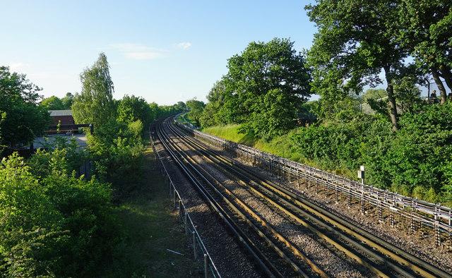 London Underground Central Line heading towards Barkingside