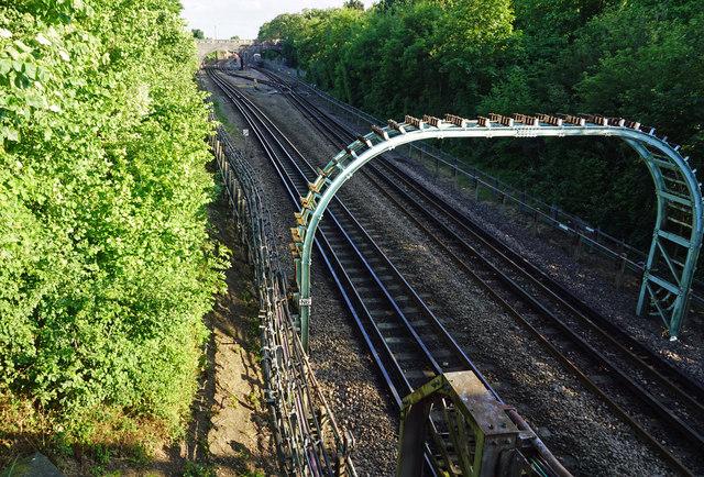 London Underground Central Line heading towards Newbury Park