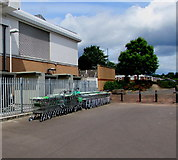 ST2995 : Asda superstore trolley storage area, Cwmbran by Jaggery